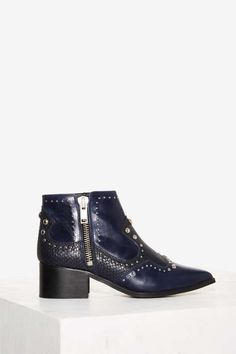 Nasty Gal Revolt Leather Ankle Boot - Shoes
