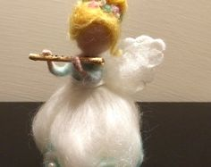 Needle felted Angel, Waldorf inspired, Christmas Angel, Christmas Ornament, Music angel, Home decor, Christmas fairy, Art Doll, Handmade
