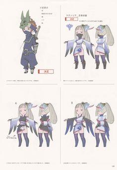 Art of Akihiko Yoshida - Bravely Second - Ninja Asterisk Concept Game Character Design, 3d Character, Character Design Inspiration, Character Concept, Concept Art, Chibi Characters, Cute Characters, Fantasy Characters, Sprites