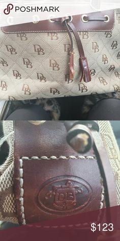 c39132f2537 Spotted while shopping on Poshmark  Dooney   bourke vintage leather canvas  handbag!