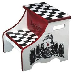 Renditions by Reesa Racing Personalized 2-Step Step Stool