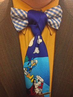 Bow tie + quirky necktie with a Trinity Knot