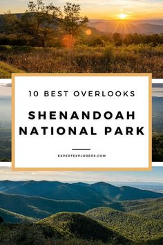 Shenandoah National Park Best Overlooks - A popular destination to see the leaves change in fall, the Shenandoah National Park consists of around 75 stunning roadway overlooks from its main mountain road, Skyline Drive. This guide narrows down your must stop viewpoints. Tips on sunrise and sunset. Via ExpertExplorers.com | #Virginia #Mountains #fall #overlooks Shenandoah River, Shenandoah National Park, Virginia Mountains, Good Drive, Front Royal, Blue Ridge Parkway, Us Beaches, Appalachian Trail, Best Hikes