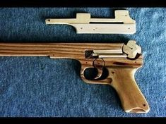 Structure of the rubber band gun - Windmill Release Rifles, Rubber Band Gun, Gun Cases, Slingshot, Wood Toys, Toys For Boys, Yard Art, Windmill, Woodworking Crafts