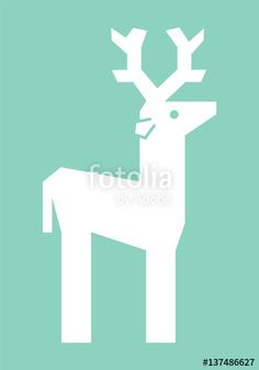 """Download the royalty-free vector """"Vector Illustration Of A Deer As A Christmas Icon"""" designed by karapati at the lowest price on Fotolia.com. Browse our cheap image bank online to find the perfect stock vector for your marketing projects!"""
