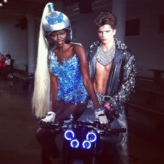 """Power couple at The Blonds show."""