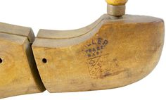 Miller Trade Mark Antique Wooden Shoe Form, Size 7 1/2, Pair of 2, 1906