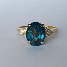Vintage Spinel Ring with Diamond Accents. 3 by ScotchStreetVintage