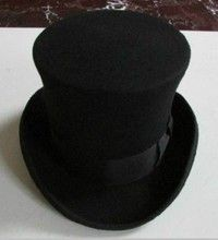 Buy Wool Black Victorian Mad Hatter Top Hat Vivi Magic Hat Performing at Wish - Shopping Made Fun Steampunk Hat, Steampunk Costume, Costume Hats, Costumes, Amish Hat, Farmer Costume, Mad Hatter Top Hat, Magic Hat, Black Top Hat