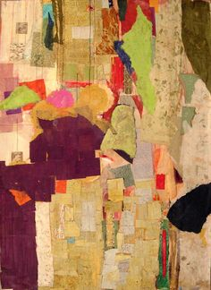 """Untitled, mixed media on paper, 50"""" x 38"""", 2012"""