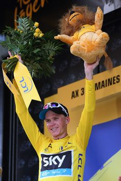 Chris Froome -it's crazy how good this guy is. Not following in Lance's footsteps I hope. Tour de France 2013