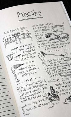 Recipe bullet journal page