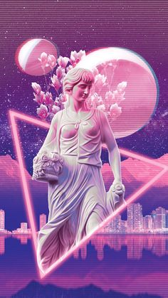 vaporwave DESIGN- The texture created by the background and the way the statue is being contained would solve the issues I am having with my own design Glitch Art, Glitch Kunst, Vaporwave Wallpaper, Wallpapers Tumblr, Tumblr Wallpaper, Diy Wallpaper, Wallpaper Backgrounds, Iphone Wallpaper, Graphic Design Posters