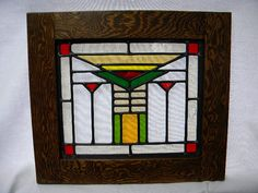 Craftsman Stained Glass Window by charlesartglass on Etsy Stained Glass Windows, Stained Glass Art, Mosaic Glass, Beveled Glass, Mosaic Art, Stained Glass Designs, Stained Glass Projects, Stained Glass Patterns, Old Window Panes