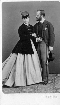 Victorian Man and Woman 1860s