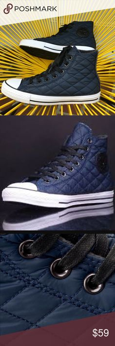 NWT Converse Ct HI Nightime Nave WMNS Brand new, no lid box. Price is firm! No trades. Converse Shoes Sneakers