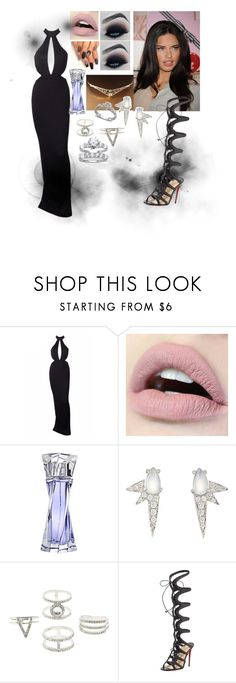 """""""The Lady In Black #2"""" by e-sekovanikj ❤ liked on Polyvore featuring Lancôme, Finn, Charlotte Russe, Christian Louboutin and Palm Beach Jewelry"""