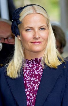 Crown Princess Mary of Denmark met Crown Princess Mette Marit of Norway in her home town, Kristiansand to commemorate the 150th Anniversary of the Battle of Heligoland.