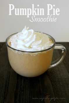 Fall is the season to enjoy pumpkin flavors! Here's a delicious Pumpkin Pie Smoothie Recipe to enjoy this fall. Top with a dash of cinnamon and/or whipped cream for a tasty treat.