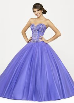 Brilliant Ball Gown Satin & Tulle Sweetheart Neckline Quinceanera Dress With Delicate Beadings and Embroidery