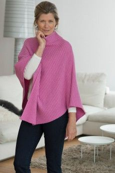 ca1eac930a0 Poncho col cheminée laine lambswool made in france Gilet Laine