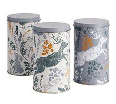 Buy Sainsbury's Home Rural Retreat Storage Tins - 3 Pack at Argos. Storage Sets, Food Storage, Sainsburys Home, Nature Color Palette, Rural Retreats, Utensil Holder, Cottage Design, Home Entertainment, Argos