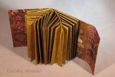 Fishbone binding - book by Dorothy Wheeler, binding invented by Hedi Kyle