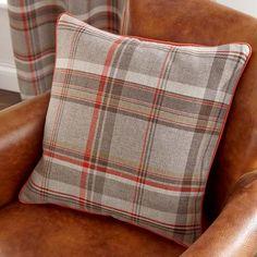 Rust Hoxton Collection Cushion | Dunelm