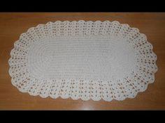 Crochê tapete leques parte 1