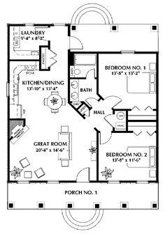 Like: simple shape, open floor plan, layout of kitchen/dining/great room,   Dislike: bathroom layout (traditional preferred with 1 sink and no door dividing sinks from toilet/tub), cost of porches/shape?, placement of hearth -- more heat-efficient to move/remove linen closet and place primary heat there?
