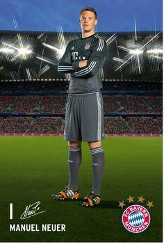 fc bayern munchen goalkeeper manuel neuer football shirts pinterest manuel neuer. Black Bedroom Furniture Sets. Home Design Ideas