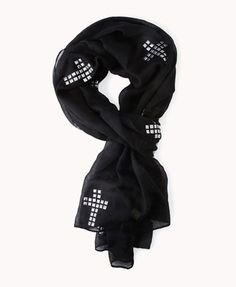 Studded Cross Scarf | FOREVER21 How do you tie your scarf? #Accessories