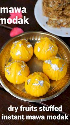 Modak Recipe, Kulfi Recipe, Chaat Recipe, Milk Recipes, Sweet Recipes, Cooking Recipes, Indian Dessert Recipes, Vegetarian Snacks, India Food