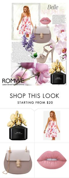 """""""Romwe IX/1"""" by m-sisic ❤ liked on Polyvore featuring Marc Jacobs, Lime Crime and Polaroid"""
