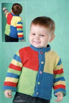 Beanie Knitting Patterns Free, Baby Sweater Knitting Pattern, Baby Boy Knitting, Knitting For Kids, Sewing For Kids, Knitting Designs, Hand Knitting, Baby Boy Sweater, Knit Baby Sweaters