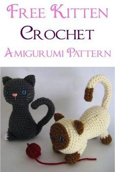 Free Kitten Crochet Amigurumi Pattern!