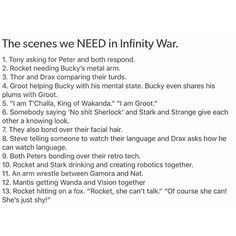 YES! Marvel please make these happen! Especially Everett Ross being the someone in #6...