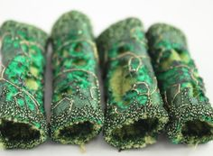 Fibre fabric Bead Moss olive Green felt by NellsEmbroidery on Etsy,