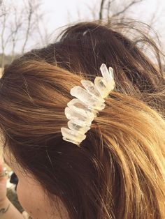 Items similar to quartz crystal hair comb ~ boho hippie wicca indie festival bride bridal veil piece/accessories/jewelry on Etsy Boho Hippie, Hippie Jewelry, Hair Jewelry, Bridal Jewelry, Body Jewelry, Fashion Jewelry, Jewellery, Indie Festival, Festival Hair
