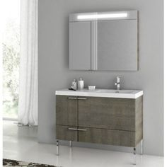 ACF by Nameeks ACF ANS23-LC New Space 39-in. Single Bathroom Vanity Set - Larch Canapa - ACF ANS23-LC-