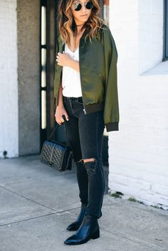 I'm not already giddy for fall, I'm so excited to talk about one of the hottest trends for the upcoming season! You've seen the varsity/bomber jacket in street style photos for years, but I think this fall they're going to be hotter than ever. While I love the way the tomboy jacket dresses down your outfit, I also love the way it elevates and adds an element of rugged, chicness to your overall look. If you think bombers are overly trendy, try pairing them with the classic pieces in your…