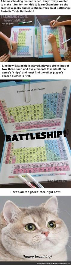 How to love Chemistry more with this Periodic Table Battleship