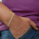 Bubbles 7 inch Sterling silver chain bracelet, Made in Italy