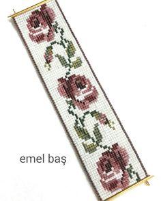 Square stitch bracelet by Emel Bas from Turkey