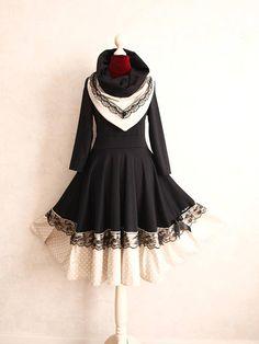 S-XXL Petticoat Kragen Kleid Swing Spitze Beige Schwarz