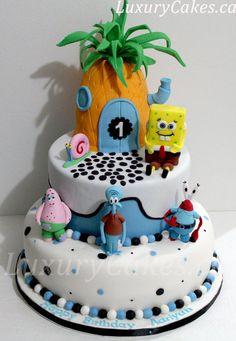 Sponge bob cake Cake by Sobi