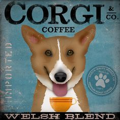 Welsh Corgi Coffee Company original graphic by geministudio, $80.00