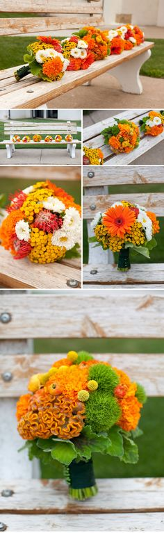 green and orange wedding - Bing Images