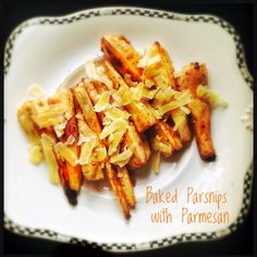 Baked Parsnips with Parmesan