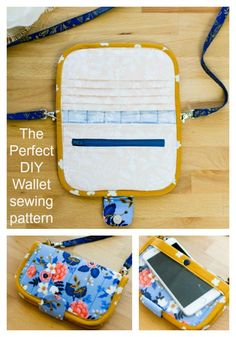 The Perfect DIY Wallet - FREE Pattern - Sew Modern Bags - FREE wallet sewing pattern. Easy to sew wallet sewing pattern with space for bank cards, and a zipp - Wallet Sewing Pattern, Sewing Patterns Free, Free Pattern, Sewing Hacks, Sewing Tutorials, Sewing Tips, Sewing Ideas, Diy Sac Pochette, Diy Rucksack
